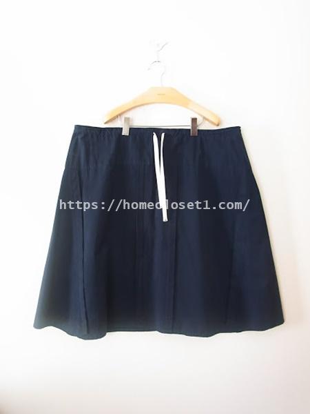 homspunードローストリングスカート3