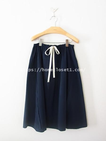 homspunードローストリングスカート1