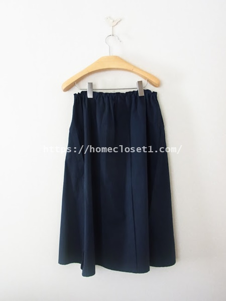 homspunードローストリングスカート2