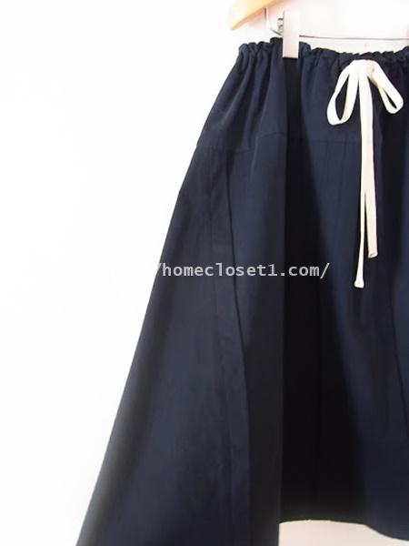 homspunードローストリングスカート4